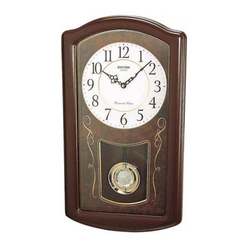 C M J321 N R06 - Wooden Wall Clock Chime - Brown