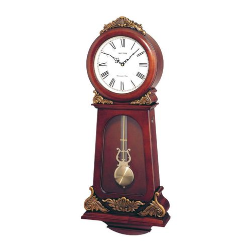 C M J349 C R06 - S I P (Sound In Place) Wall Clock -Japan- Brown