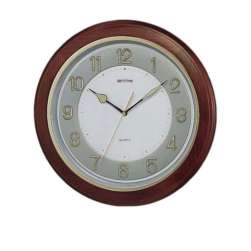 C M G266 B R06 - Wooden Wall Clock - Brown