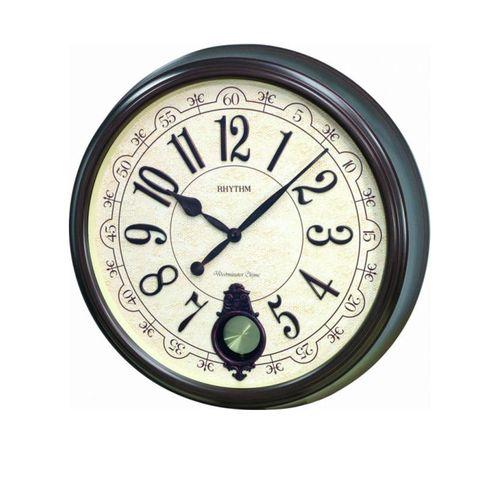 C M J504 N R06 - S I P (Sound In Place) Wall Clock -Japan- Brown