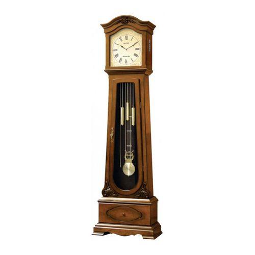 C R J602 C R06 - S I P (Sound In Place) Grand Father Clock - Brown