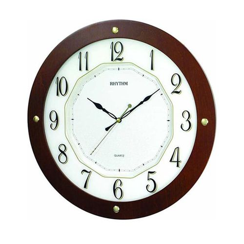 CMG977NR06 - Wooden Wall Clock - Brown (Brand Warranty)