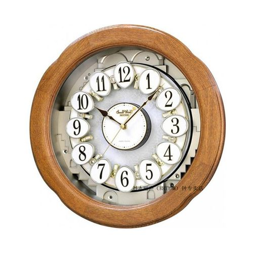 4 M H868 W D06 - Magic Motion Clock - Brown