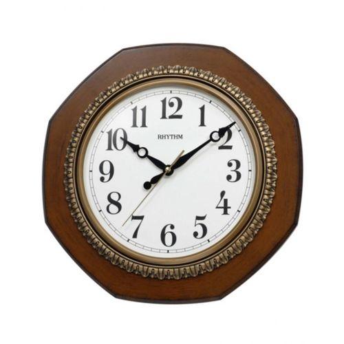 C M G110 N R06 - Wooden Wall Clock - Brown