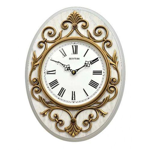 CMG775NR18 - Wall Clock - White & Gold