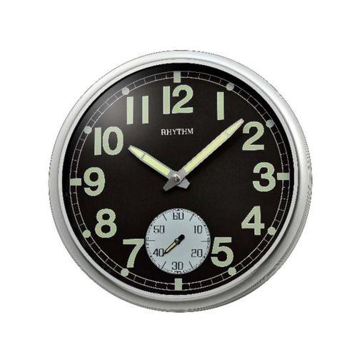 CMG774BR19 - Wall Clock - Black & Silver