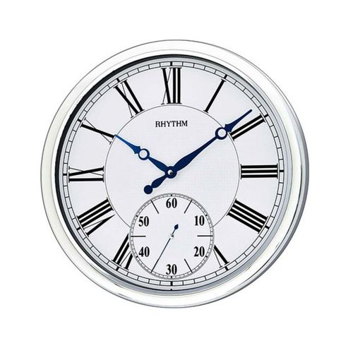CMG774NR19 - Value Added Wall Clock - White & Silver