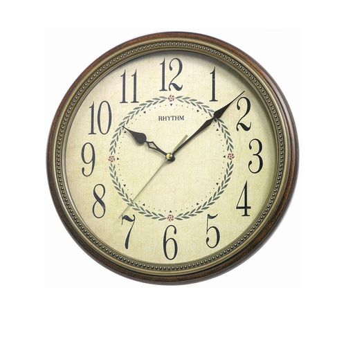 C M G985 N R06 - Wooden Wall Clock - Bronze