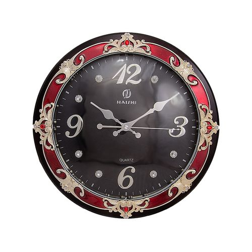 "100 Fancy Wall Clock - 12X12"" Size in Brown Color"