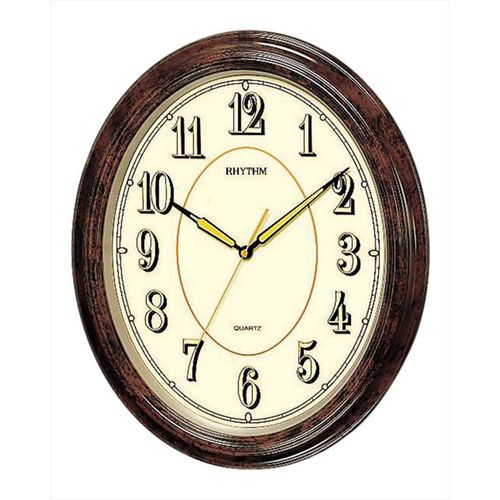 C M G712 N R06 - Value Added Wall Clock - Brown