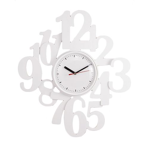 Buy Stylish Numbers Wall Clock 16x16 Quot White At Best Price