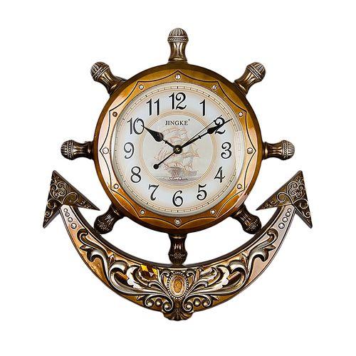 Roman Pearl Anchor Wall Clock With Pendulum - Bronze