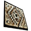 Brazilian Natural Speckled Cowhide Patchwork Rugs - Black & Brown