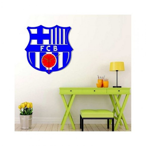 FCB Football Club Acrylic Wall Clock - Blue