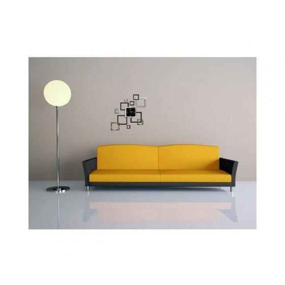 Square Modern Style Acrylic Wall Clock - Black & White