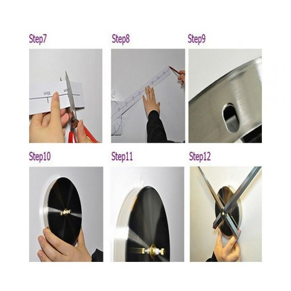 3D Wall Clock-Silver - SA