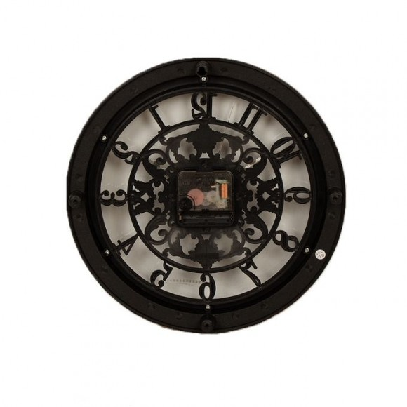 Hollow Black Decoration Wall Clock - 11x11inch