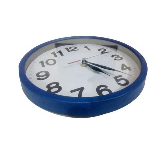 Plastic Round Wall Clock - Blue