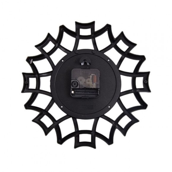 "Spider Web Design Wall Clock 11x11"" - Golden"