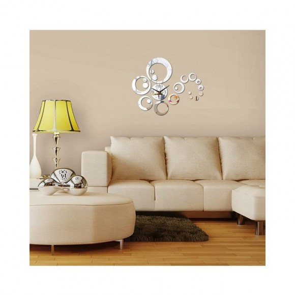 3d Acrylic Wall Stickers Home Decor - Silver