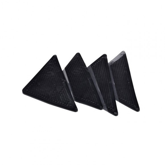 Pack Of 4 - Anti Skid Rug Grippers - Black