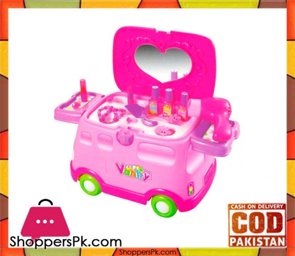 2 in 1 Doctor Medical Vehicle With Light and Sound For Kid Pink