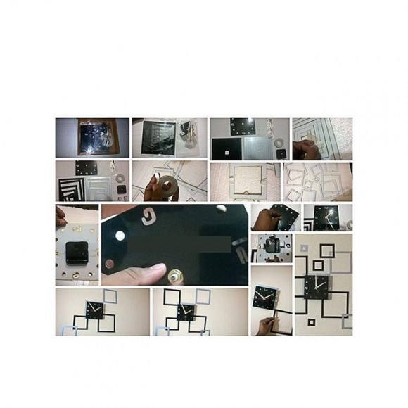 Fancy Wall Clock - Black