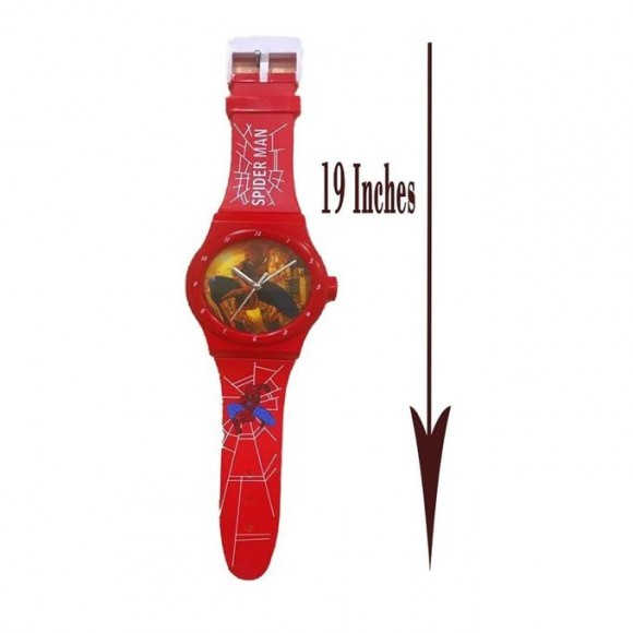 Town Kids Wall Clock - Red