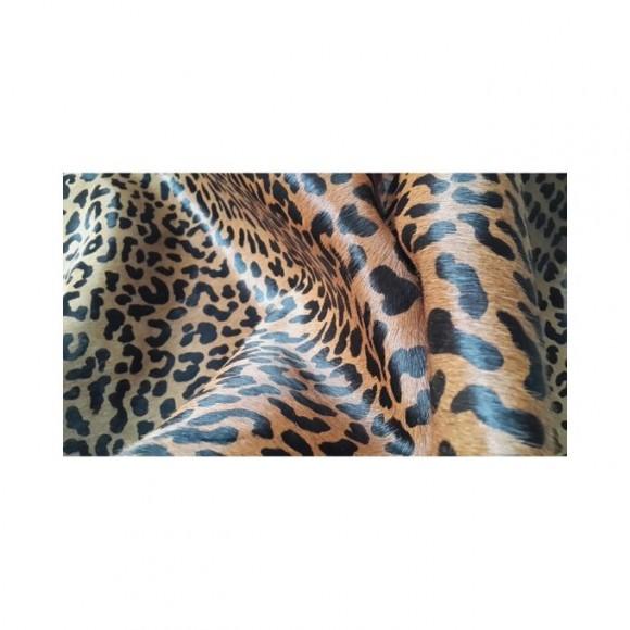 Cowhide Rug Leopard Print On Cowhide Large Area Rug