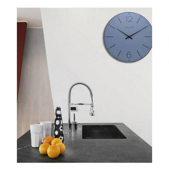 3159Bl - Index Dome Wall Clock - Netherlands