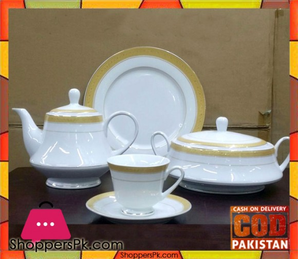 75 Pieces Dinner Set Fine Porcelain Bone China Q4