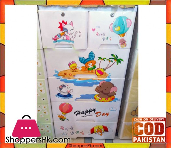 Baby Clothes Storage Drawer Plastic Happy Day