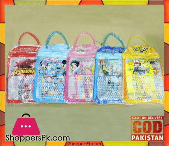Cartoon Character Stationary With Small Bag One Pieces