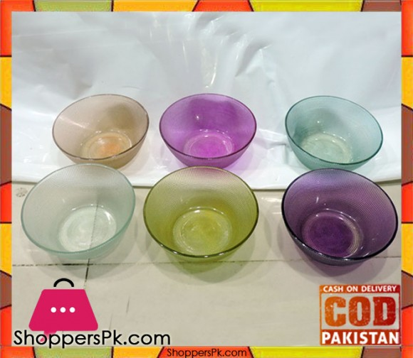 Colorful Glass Small Bowl Set Six Pieces