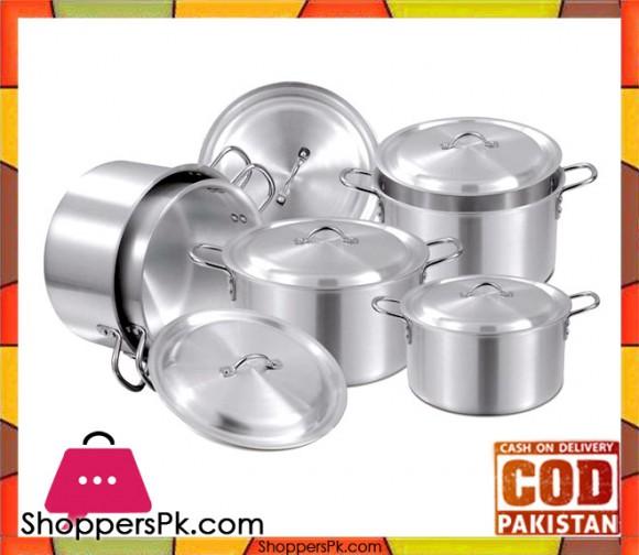 Domestic Aluminum Cookware Set 10 Pieces