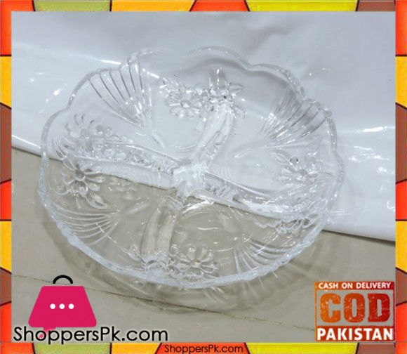 Dry Fruit And Multi-purpose Glass Serving Dish L2
