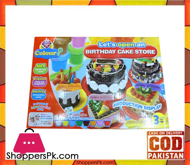Buy Happy Birthday Cake Store Colour Dough At Best Price