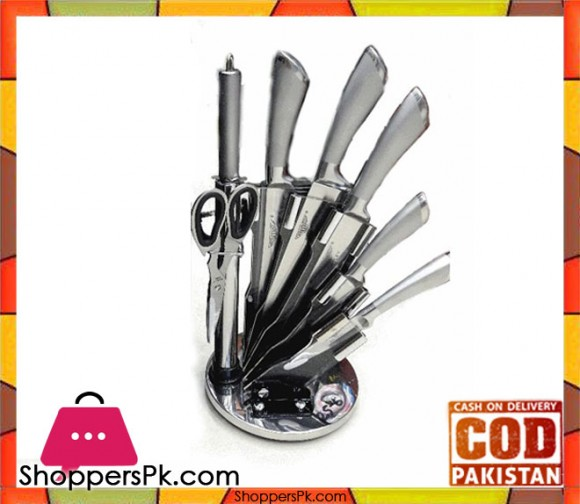 High Quality Kitchen Knife Set With Acrylic Stand 8 Pieces