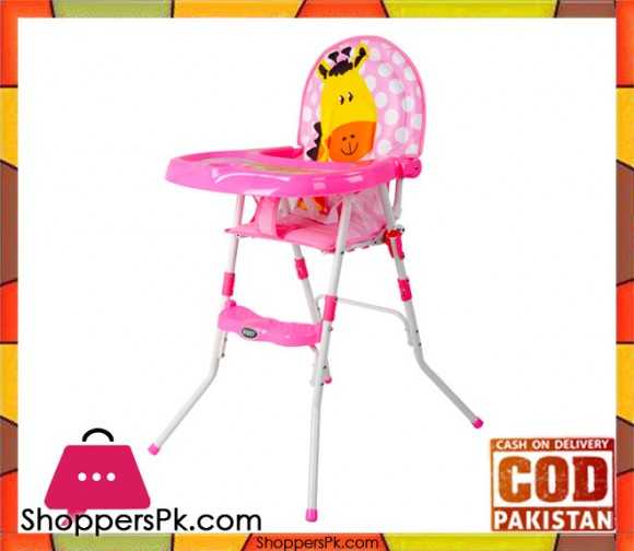 High Quality Portable Baby High Chair Pink