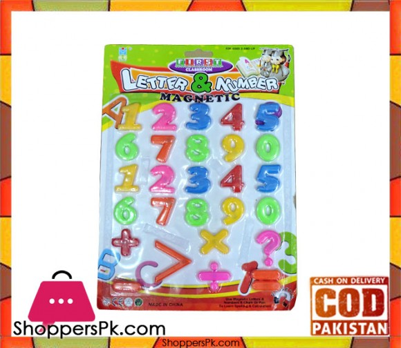 Kid Magnetic Numbers Letters