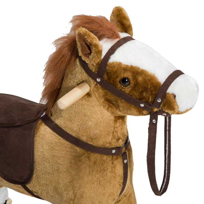 Buy Kid Plush Rocking Horse Ride On Toy Pony With