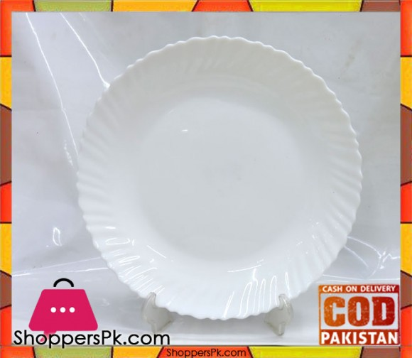 Marble Deep Plate 10.5 Inch Six Pieces White
