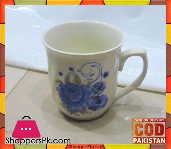 Tea Cup Blue Flower Print Six Pieces Set