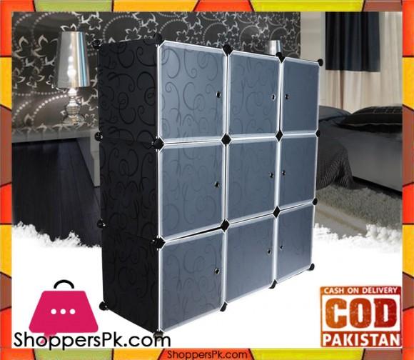 Multi-use 9 Cube Storage Cabinet
