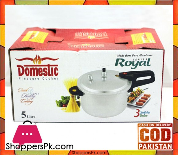 Domestic Excellence Pressure Cooker 5 Litre