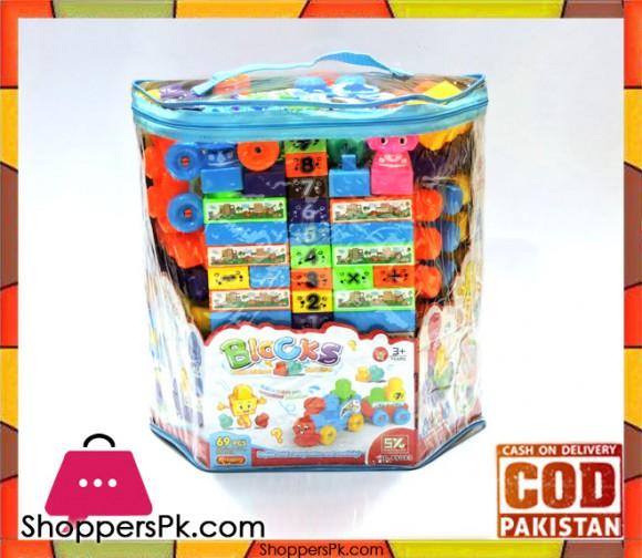 Plastic Bulding Block 69 Pcs