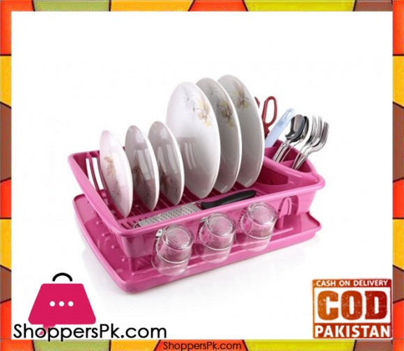 Plastic Dish Drainer Plate and Cutlery Rack