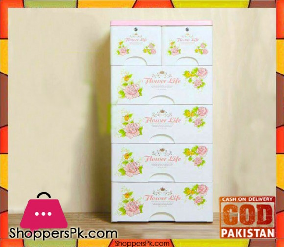 Plastic Drawers Cabinet Flower AQ61