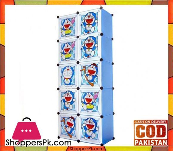 Portable 10 Cubes Cabinet Doraemon