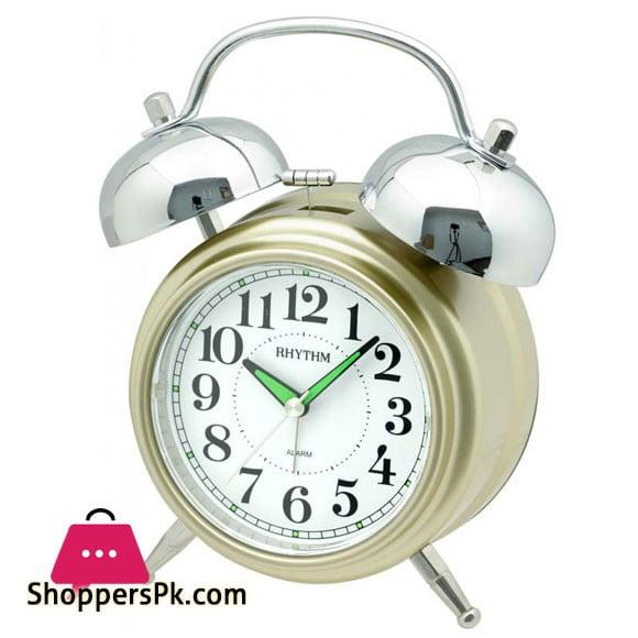 CRA845NR18 Rhythm Value Added Melody and Bell Snooze Light Silky Move Alarm Clock 13x19x7cm